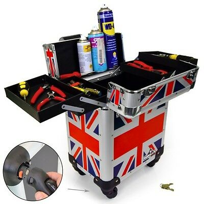 Gorilla Mobile Trolley Tool Box Wheels Electrician Builder Plumber (Union Jack)