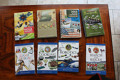 8 x Boy Scouts of America Merit Badge Books