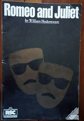 """THEATRE PROGRAMME / RSC 1986/""""ROMEO AND JULIET"""" by WILLIAM SHAKESPEARE"""