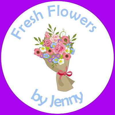 24 Gloss Personalised Label Stickers For,florists, Flower Arranging