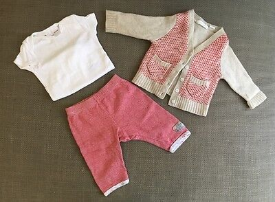 Gender neutral baby wool jumper cardigan outfit set Country Road Bebe size 00