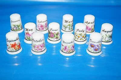 Day Of The Months In Flower - Thimbles Set