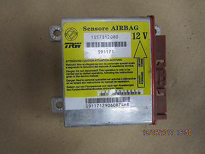 FIAT DUCATO PEUGEOT SRS AIR BAG RESTRAINT CONTROL MODULE ECU 2007 -on