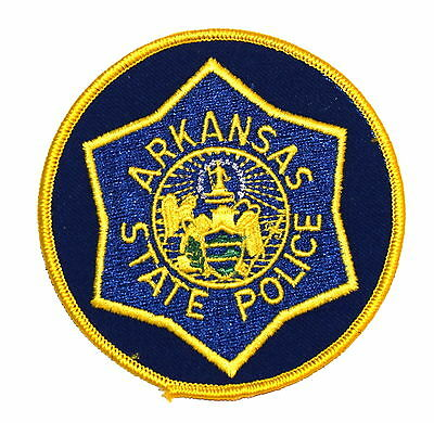 ARKANSAS STATE POLICE AR Police Sheriff Patch STATE SEAL ANGEL ~