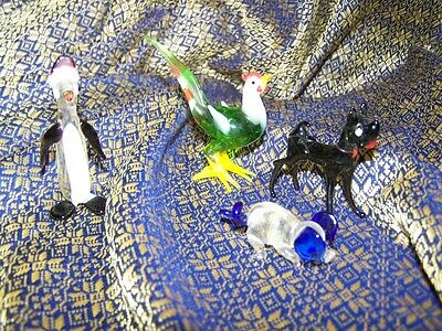 Small collection of Murano Glass Animals