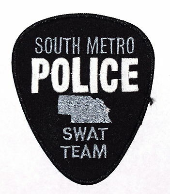 SOUTH METRO - SWAT - NEBRASKA NE Police Sheriff Patch SUBDUED STATE SHAPE OUTLIN
