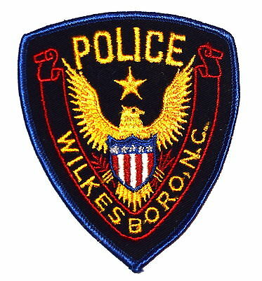 WILKESBORO NORTH CAROLINA NC Police Sheriff Patch STAR OVER GOLDEN EAGLE VINTAGE