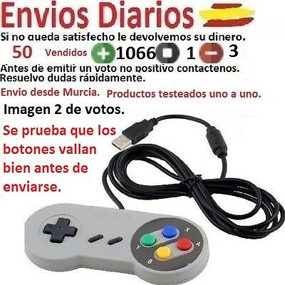 Mando Super Nintendo Snes Usb Gamepad Para Windows Raspberry Recalbox Retropie