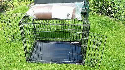 Dog Crate and Bedding