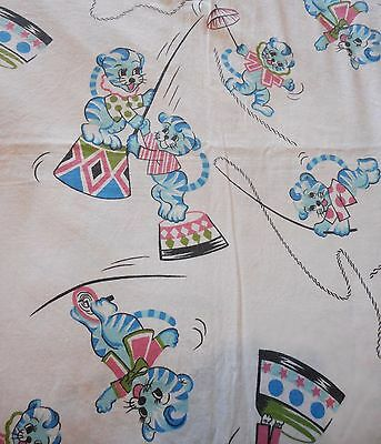 Tigers CIRCUS Ringmaster - Vintage Fabric COT/ CRIB Quilt Cover (Boy, Girl)