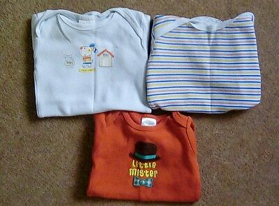 Bundle of baby boy short sleeve body suits, 0-3 months