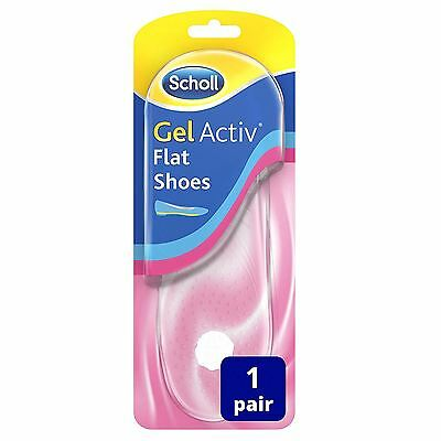 Scholl Gel Activ Comfy Flat Shoes Insoles Non-Slip Extra Slim & Discreet 1 Pair
