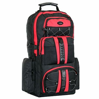 Large 65 Litres Camping Hiking Travel Rucksack Backpack Holiday Luggage Bag Red
