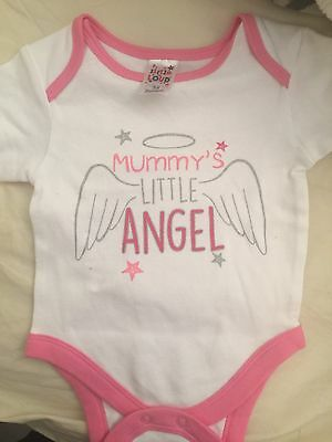Mummy's Little angel , Vest New Girls 3-6 Months