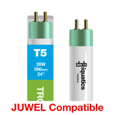 3 x iQuatics 28w JUWEL Compatible T5 Tropical-Pink Hue-Colour enhancing/Growth