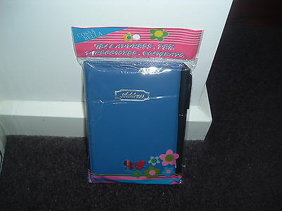 Soft Cover  Blue   Address Book With Pen Brand New In Packet