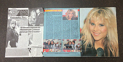 COUPURE de presse PHOTO CLIPPING  samantha FOX 3 pages année 80