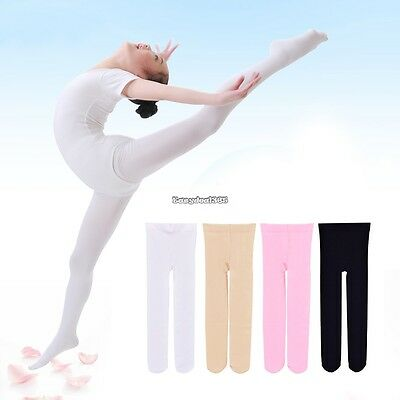 New Children's Girls Ballet Dance Tights Footed Seamless Solid Stockings E5