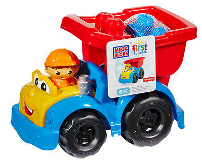 Mega Bloks First Builders Dylan Dump Truck Toddler Building Blocks Cnd82
