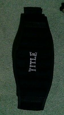 "TITLE Weight training Belt(fits up to 39""waist) Black"
