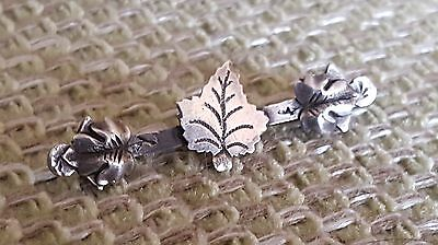 Antique Hallmarked Silver Pin Brooch Chester Assay