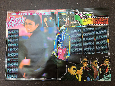 COUPURE de presse PHOTO CLIPPING  michael jackson 6 pages année 80