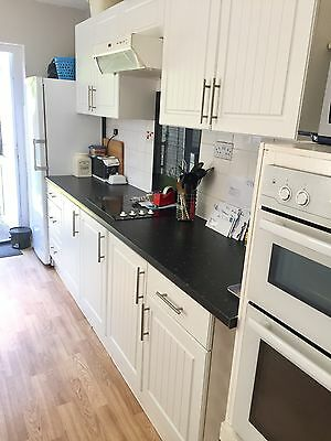 White Kitchen Cupboard Doors & Drawer Fronts With Handles