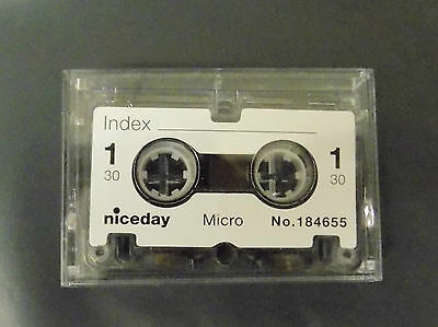 Niceday Micro Cassette Tape Micro-Cassette No. 184655 x 10 Tapes IX8 NEW