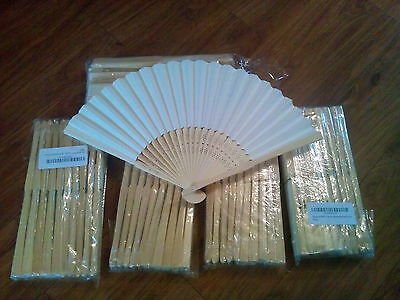 Job lot of 60 brand new ivory paper fans