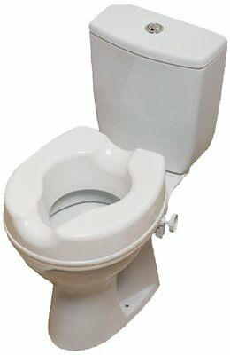 """NRS Linton Plus 4"""" Raised Toilet Seat without Lid Elevated Toileting Aid"""