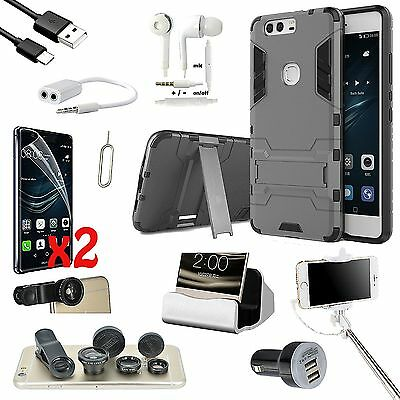 11 x Accessory Bundle Case Charger Fish Eye Lens Monopod Stick For Huawei Mate 8