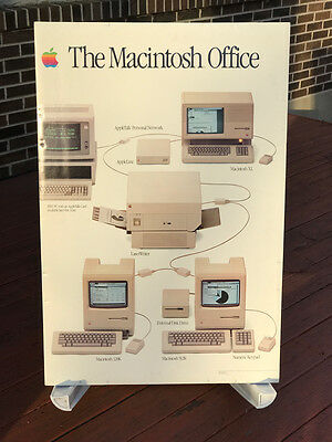 "34""x23"" BOARD ""The Macintosh Office"" from Apple Computer Authorized Store 1985"