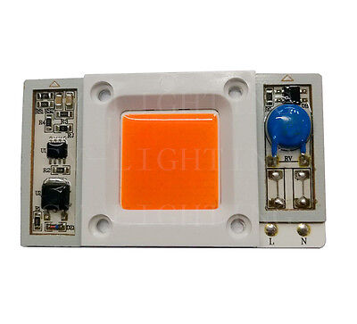 2X High Power 50W led chip built-in driver 380-840NM Full Spectrum LED 110V 220V