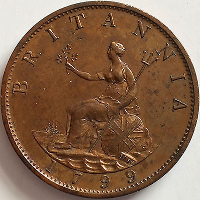 1799 Half Penny Uncirculated