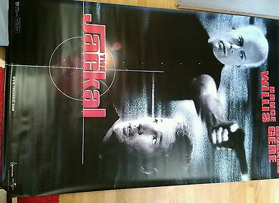 Giant Bruce Willis Richard Gere THE JACKAL 1997 Original film poster classic
