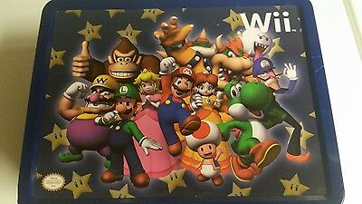 Wii Mario Tin Lunch Box
