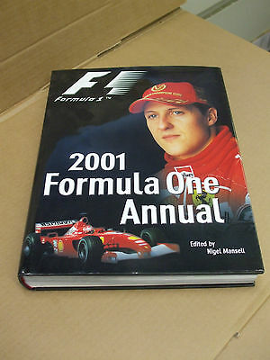 F1 2001 Formula One Annual - Schumacher - Signed by Nigel Mansell - as described