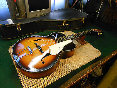 Vintage '60s Teisco Audition Archtop Acoustic Guitar Made In Japan