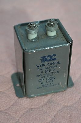 TCC  4uF 250v Paper in Oil Capacitor