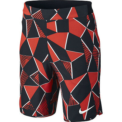 Nike Boys Flex Ace Tennis Shorts Max Orange Kids New M (10-12 Years Old)
