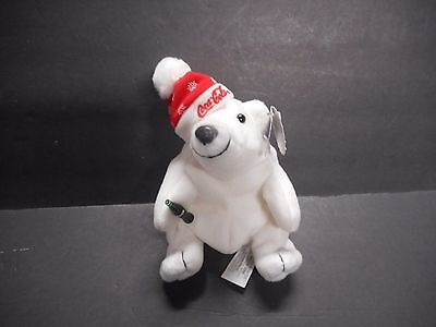 Cola-Cola Polar Bear In Snowflake Cap. 1997 Edition. Style No. 0104. With Tags.
