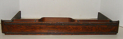 Antique Sewing Machine Slide Drawer, Beaded Trim, Off Old Treadle Machine