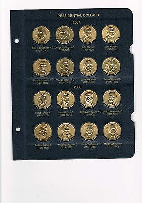 U.s.a. Presidential Dollar Collection In Album