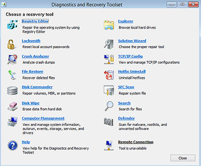 Microsoft DaRT (ERD) all-in-one Windows Recovery-Recover Your Password and more!