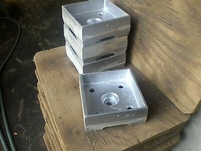 Post Base, Anchored 6x6 heavy cast aluminum. Contractor Pack of 4.  MADE IN USA