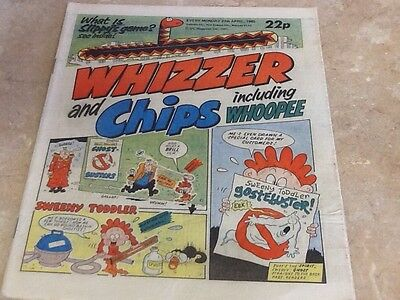 WHIZZER AND CHIPS vintage comic 27th april 1985 excellent condition for age