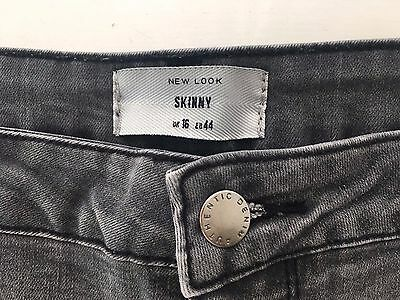 New Look Grey Skinny Jeans Size 16 - L32""