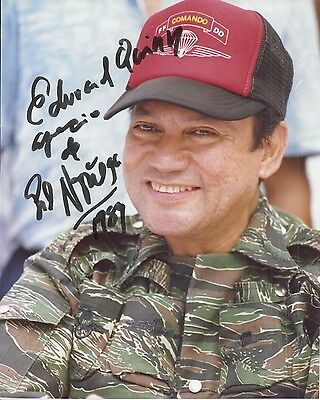 MANUEL NORIEGA Signed Photo Autographed 8x10 GENERAL Panama Dictator Orig COA