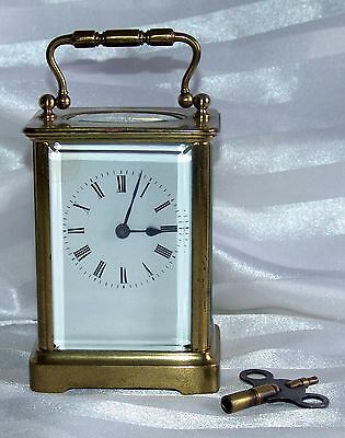 Nice vintage 1930's French Brass carriage clock - H.A - Fully working