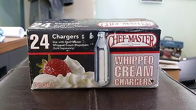 Chef Master Whipped Cream Chargers, 24-Pack